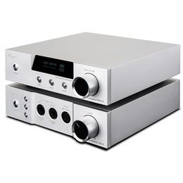 Wholesale Aluminum Amp - Freeshipping iDac-6 & iHA-6 66 Set IDAC-6 Audio Decoder IHA6 Full Balanced Headphone Amplifier HIFI Tube AMPs Aluminum Enclosure