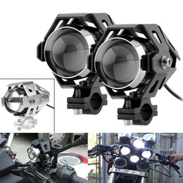 Wholesale Motorcycle Led Headlight Kits - 1 Pair U5 LED Motorcycle Headlight Transform Spotlight 3000LM 125W 12V Aluminum Alloy High Brightness Moto Headlamp with Wrench MOT_216