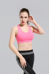Wholesale Sports Bra Women - 2017 Hot New arrivals Pink Yoga Bra Fashion Quick Dry Sportswear Womens Tops Fitness yoga sports bra Gym Clothes Free Drop Shipping lymmia