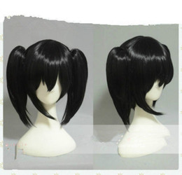 Wholesale Wig Black Clip Cosplay - ePacket free shipping>Love Live! Yazawa Nico Short Black Clip Ponytail Cosplay Wigs Hair