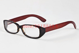Wholesale Wood Framed Optical Glasses - Mens Buffalo Horn Glasses Fashion Sunglasses Women Brand Designer Optical Wood Carved Tortoise Red Black Eyegalsses Frame Eyewear Transparen