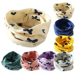 Wholesale New Girls Muffler Styles - 2016 New Children Baby Muffler Warm Scarf Boys Girls Cotton Knitted O Ring Style Designer Knitting Kids Neck Warmer Neckerchief