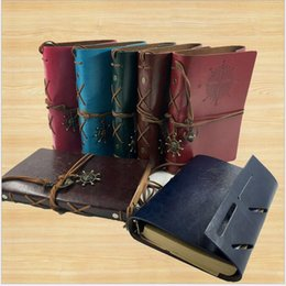 Wholesale Kraft Paper Notebooks Notepads - vintage garden travel diary books kraft papers journal notebook spiral Pirate notepads cheap school student classical books
