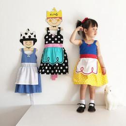 Wholesale Dress Baby Girl Polka - 2017 New Summer Baby Girl Alice snow White Princess Dress polka dot Cute cotton kids Clothes Formal dress free shipping