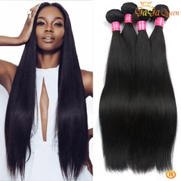 Wholesale 22 Inch Virgin Remy Hair - 8a Virgin Peruvian Straight Hair Bundles Unprocessed peruvian Idian Malaysian Virgin Straight Hair Extensions Cheap Remy Human Hair Weaves