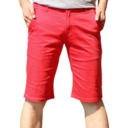 Wholesale Flat Front Pants - Wholesale-2016 Hot Sale Men's Casual Short Pants Good Quality All Match Cotton Summer Casual Shorts For Men With Front And Back Pockets
