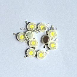Wholesale Led Lamp Beads 1w - Wholesale- 50Pcs 1W Power Led Lamp Beads 100-110Lm 30*30MIL 6000K-6500K 3.0-3.4V White Led Lamp Beads