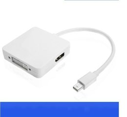 Wholesale mini dvi macbook - For MacBook Air Pro iMac Mac Mini Display Port Display Port 3 In 1 Mini DP To DVI VGA HDMI Cable Adapter 1080P