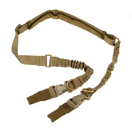 Wholesale Heavy Duty Straps - Tactical 2 Points Rifle Sling Padded Adjustable Heavy Duty Quick Detach Stealth Bungee Gun Sling Strap Belt System