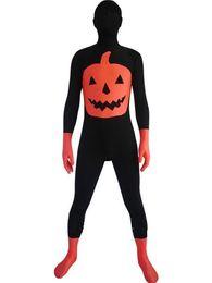Wholesale Female Pumpkin - Halloween Pumpkin Black & Red Spandex Costume Party Halloween carnival costumes
