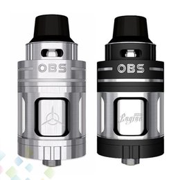 Wholesale metal sides - Original OBS Engine Nano RTA Atomizer 5.3ml Capacity Single Elliptical Post Holes Top Side Filling Tank E Cigarette DHL free
