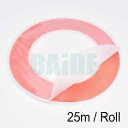 Wholesale 6mm Double Sided Tape - 6mm-12mm * 25m Red High Strength Acrylic Gel Adhesive Double Sided Tape  Adhesive Tape Sticker For Phone LCD Screen 100pcs lot
