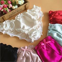 Wholesale Ruffle Panties - 3pcs lot Great Quality women's mulberry silk panties silk panties female panties ruffle female briefs free shipping