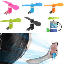 usb fan for tablet Promo Codes - Wholesale- New 2 in1 Mini Micro USB Mobile Phone Fan Portable Flexible Mini USB Fan for PC Tablets Android Smartphones