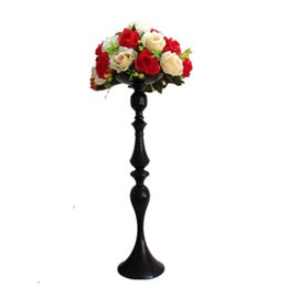Wholesale Pillar Candles Holders Wholesale - 69 CM Height Metal Candle Holder Candle Stand Wedding Centerpiece Event Road Lead Flower Rack 20 PCS   Lot