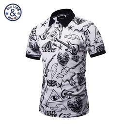 Wholesale Musical Prints - 2017 polo famous brand polo 3d print musical instroment mens short sleeve slim shirts casual skull printed new design fashion sweatshirts
