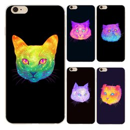 Wholesale Iphone 4s Cases Cute Cat - Cartoon Color Cute Cat Clear Soft Silicone TPU Cell Phone Case for iphone X 8 7 6S Plus 5S 5C 4S Back Cover