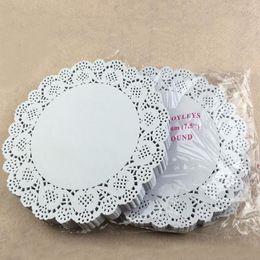 2019 doyleys de papel 7.5 pulgadas Cake Paper Doyleys Placemat Oil-absorbente Hoja de papel Doily Bakery Package Decoration Party Supplies ZA3829 doyleys de papel baratos