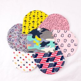 Wholesale knitted animal hats for kids - Multicolor kids cotton knitting hat printing knitted hat for boys girls Animal Stars Letters Anchor America flag Camouflage casual hat