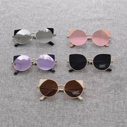 Wholesale Toddlers Sunglasses Wholesale - Toddler Girl Cat Eye Sunglasses Design Baby Stylish Summer Glasses Kids Sun Glasses Baby Girl Fashion brand Kid Boy Cool Accessories CK474