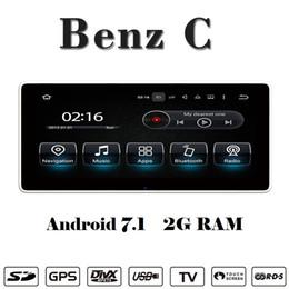 Mercedes benz gps navigazione dvd online-Navigatore da auto con lettore DVD da 10.25 pollici Android 8.0 Car stereo per Mercedes Benz C W205 2015-2017 supporto carplay Wifi GPS BT Radio Mirrolink