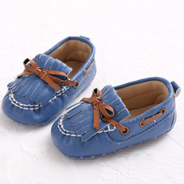 Wholesale Cool Boys Slippers - Wholesale- Cool Boy Tassel Baby Moccasins Slippers Soft Sole Indoor Boots Infant Toddler Shoes Sale Drop Shipping