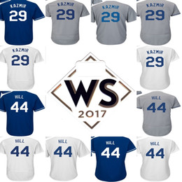 Wholesale Purple Gold Hills - 2017 WS Patch Mens Womens Kids Los Angeles 44 Rich Hill 29 Scott Kazmir Home Road Alternate Flex Cool Base Embroidery Baseball Jerseys