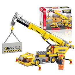 Wholesale Truck Brick Toy - J518 Lift Truck Block Sets 380pcs Jigsaw DIY Construction Bricks Enlighten Child educational Toys Kids Gift