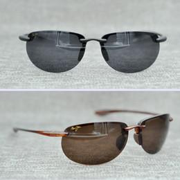 Wholesale Mj Cases - Brand Designer-2017 Maui Jim Sunglasses MJ SPROT Breakwall sunglasses Rimless lens MJ men women TR sunglasses driving Aviator with case