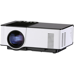 Wholesale 3d Projector Shipping - Wholesale-Free Shipping Mini Portable Projector Full HD 1080P Support Red Blue 3D Effect Home Theater Beamer Multimedia Proyector VS UC46