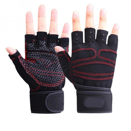 Wholesale Lifting Weights Women - 1 Pair Women Men Gym Gloves Body Building Training Sport Fitness Gloves Exercise Weight Lifting Gloves