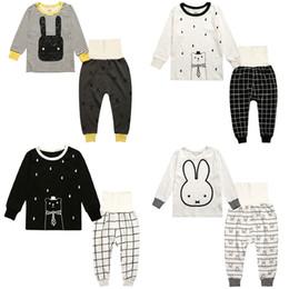 Wholesale Winter Nursing Clothes - Fashion Cartoon 100% Cotton Baby Boys Sleepwear Children Pajamas Suits Home Clothes Girl Nightgown High Waistline Nursing Belly Protector