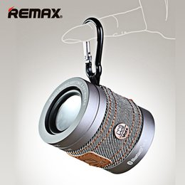 Wholesale Mini Rm - SLR Camera Design REMAX RM-M5 Wireless Speaker Bluetooth CSR4.1 NFC Cowboy Stlyle Aluminum Audio Portable MINI Outdoor HD Bass Sound Stereo