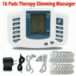 Wholesale Therapy Slimming Massager - Electrical Stimulator Full Body Relax Muscle Therapy Massager Massage Pulse tens Acupuncture Health Care Slimming Machine 16 Pads