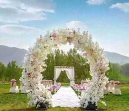 1 metro de largo simulación artificial cerezo en flor ramo de flores decoración de la boda arco Garland decoración suministros MYY desde fabricantes