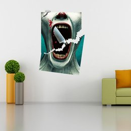 Wholesale Painting Graphics - 3042 3D View Scary Bloody Wall Sticker Broken Japanese Horror Bloody wall Sticker Home Decor Mural Removable Decorative Painting