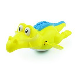 Wholesale Wholesale Alligator Toy - Wholesale- L1PC Baby Bath Swimming Toy Crocodile Wind Up Clockwork Play Alligator for Kid Educational Toys Infant Crocodile