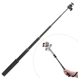 "Wholesale pole extension - Wholesale- Extension Pole Extension Shrink Bar 6-Section Adjustable Length 18cm to 71.5cm 1 4"" Screw Mount for Zhiyun for Feiyu Gimbal"