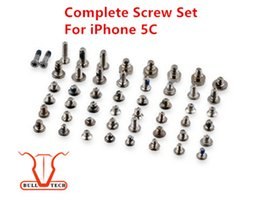 Wholesale Iphone Replacement Screws - For iPhone 5C Complete Screw Set With 2 Bottom Screws Completed Full Sets Repair Replacement Parts Accessories High Quality Brand New