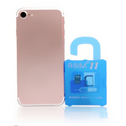Wholesale Apple Iphone Gsm Unlocked - Super R-sim 11 Iphone Unlocking I7 Unlocked Gsm R Sim 11 Unlock Sim Card Gevey Upgrade R sim For iphone 5 6 7 plus Ios 7 8 9 10
