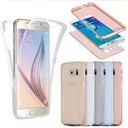 étui transparent pour iphone Promotion 360 degrés Full Body Case avant arrière 2 en 1 douces étuis antichoc TPU pour iPhone X 8 7 plus 6 6 s plus 5 s se Samsung note 8 s8 s8 plus