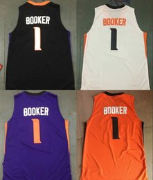 Wholesale Dry Goods - Basketball Jerseys 2017 New Hot Devin Booker Jersey Phoenix BOOKER All Stitched Purple Orange Black White Men Free Shipping Good Quality