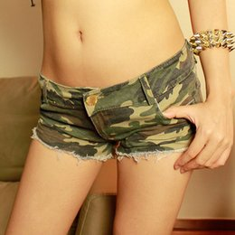 Wholesale Korean Woman Nightclub - Wholesale- 2017 Summer New Hot Pant Women Cloth Short Stripe Jeans Sexy Nightclub Camouflage Pattern Korean Version Shorts Girl Denim Jeans