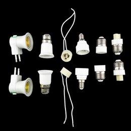 Wholesale E14 B22 Adapter - 10pcs Lamp Holder Converter E27  GU10   B22  E14  G9  EU plug Lamp Socket Base Converter Splitter Adapter for Bulb lighting