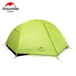 Wholesale Tent Waterproof Person - NatureHike Paro 2 Person Sturdy Tent 20D Ultralight Waterproof For Hiking Camping Travel NH17T006-L