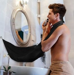 Wholesale New Beard Styles - 500pcs New Men Bathroom Beard Care Trimmer Hair Shave Apron Gown Robe Sink Style Tools Bathroom Apron Waterproof Floral Bib Cloth