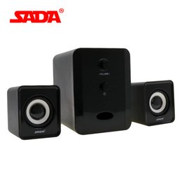 Wholesale Multimedia Speaker Box - Wholesale- SADA D-201 Compact and Dignified shape Portable Multimedia Laptop Computer Speaker Support AUX Input by USB