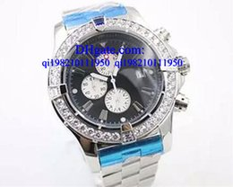 Wholesale Skeleton Watch Boxes - Luxury watches Free box Quartz Chronometer Men's Wristwatch Analog Stainless SteelBelt Platinum Skeleton Watch With Calendar Male Watch