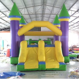 Wholesale Bouncy Slides - YARD Residential inflatable bouncer bounce house moonwak bouncy jumper slide combo trampoline toys with double slides