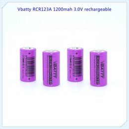 Wholesale Rechargeable Lithium Battery Cr123a - Wholesale Factory supplier CR123A 16340 1200mAh 3.7V Rechargeable Li-ion Battery Camera Torch Flashlight 3v lithium Battery